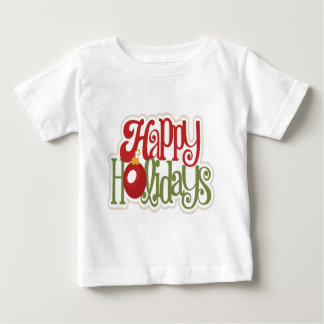 Frohe Feiertage Verzierung Baby T-shirt