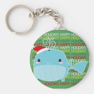 Frohe Feiertage Wal Schlüsselband