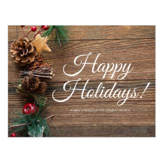 Frohe Feiertage wärmen Sie Wünsche Postkarte