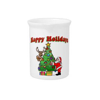 Frohe Feiertage Weihnachtsverzierung Getränke Pitcher