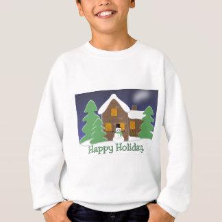 Frohe Feiertage Winter-Szene mit Schneemann Sweatshirt