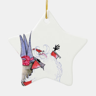 Frohe Festtage 1 durch Tony Fernandes Keramik Stern-Ornament