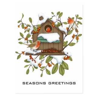 Frohe Festtage Postkarte