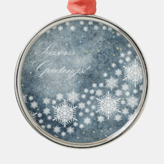 Frohe Festtage Silbernes Ornament