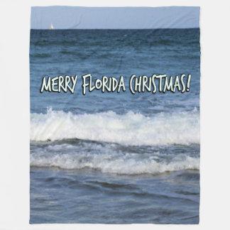 Frohe Florida-Weihnachten über dem Ozean Fleecedecke