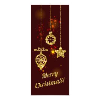 Frohe funkelnder Weihnacht-roter Feiertags-Glitter Fotodruck