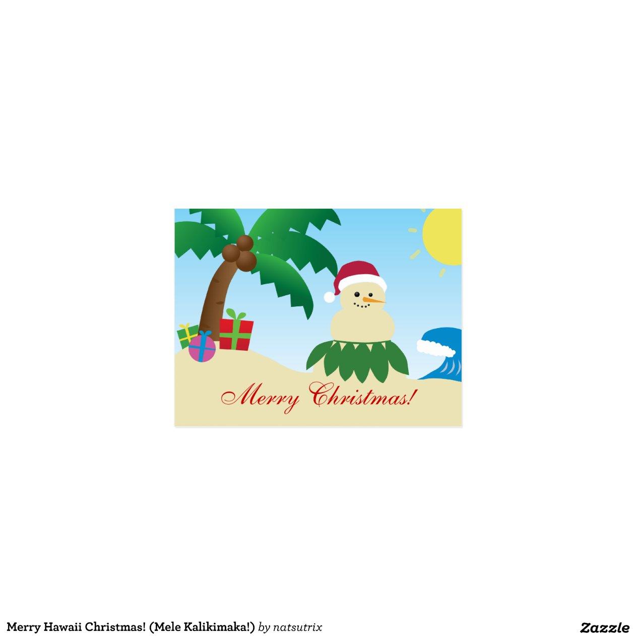 frohe hawaii weihnachten mele kalikimaka postkarte. Black Bedroom Furniture Sets. Home Design Ideas