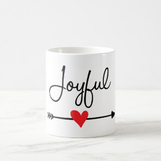 Frohe Kaffeetasse (Herz u. böhmischer Pfeil) 11oz