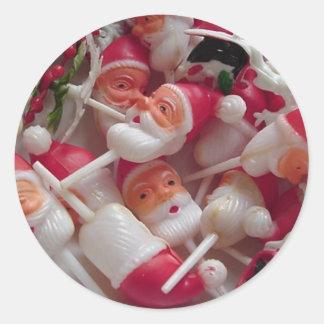Frohe Kitschy Weihnachten! Runder Aufkleber