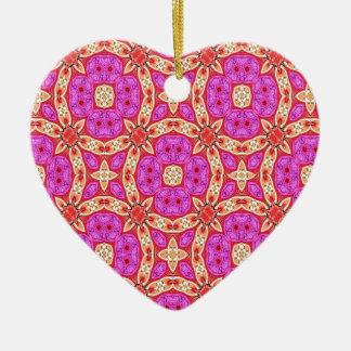 Frohe Kreise Keramik Herz-Ornament