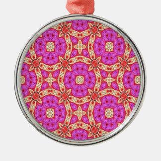 Frohe Kreise Rundes Silberfarbenes Ornament