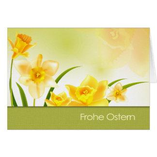 Frohe Ostern. Deutsch-Ostern-Gruß-Karte Grußkarte