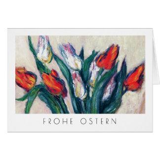 Frohe Ostern. Kunst-Ostern-Karte auf Deutsch Karte
