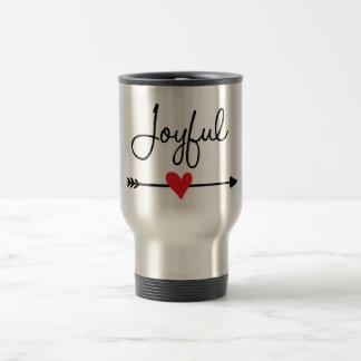 Frohe Reise-Kaffee-Tasse (Herz u. böhmischer Reisebecher