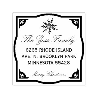 Frohe Weihnacht-Adressen-Briefmarke Permastempel