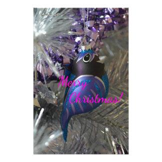 Frohe Weihnacht-atemberaubende blaue Briefpapier