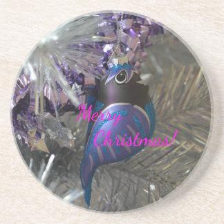 Frohe Weihnacht-atemberaubende blaue Getränkeuntersetzer