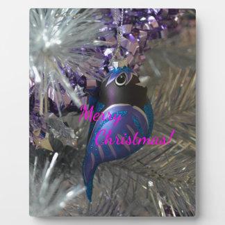 Frohe Weihnacht-atemberaubende blaue Platten