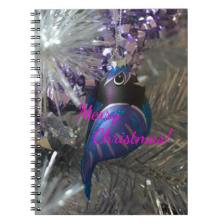 Frohe Weihnacht-atemberaubende blaue Spiralblock