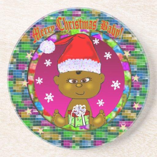 Frohe Weihnacht-Baby-Untersetzer