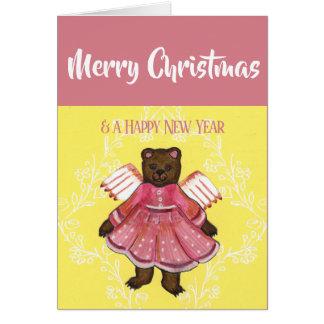 Frohe Weihnacht-Bärn-Engel Karte