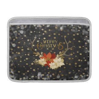 Frohe Weihnacht-BlumengeweiheConfetti MacBook Sleeve