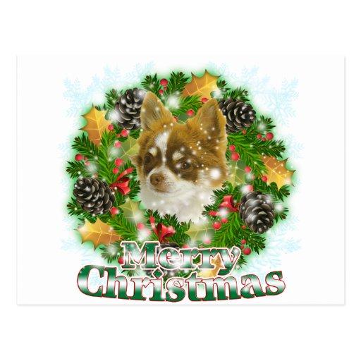 Frohe Weihnacht-Chihuahua Postkarten