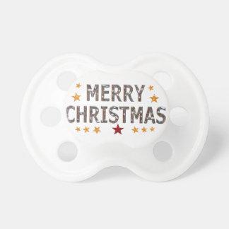 Frohe Weihnacht-Chrom Schnuller