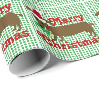 Frohe Weihnacht-Dackel-Verpackungs-Papier Geschenkpapier