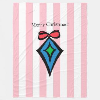 Frohe Weihnacht-Diamant Fleecedecke