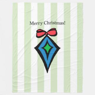 Frohe Weihnacht-Diamant-Verzierung Fleecedecke
