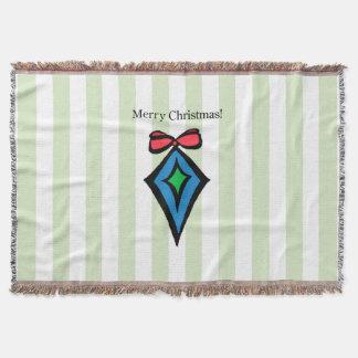 Frohe Weihnacht-Diamant-Verzierungs-Wurfs-Decke Decke