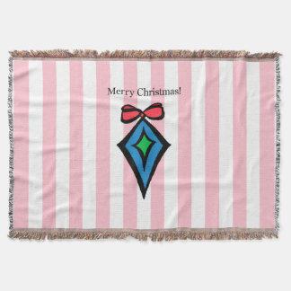 Frohe Weihnacht-Diamant-Wurfs-Decken-Rosa Decke