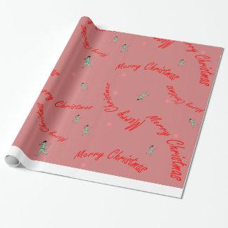 Frohe Weihnacht-Dino-Packpapier Geschenkpapier
