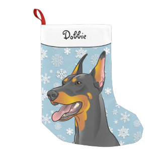 Frohe Weihnacht-Dobermann-Strumpf Kleiner Weihnachtsstrumpf