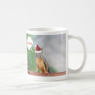 Frohe Weihnacht-Eichhörnchen-Sprichwort Ho Ho Ho! Kaffeetasse
