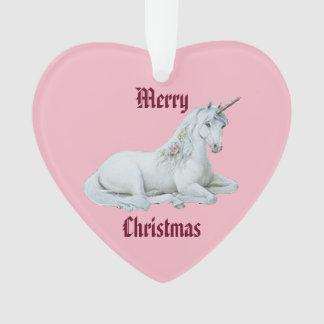Frohe Weihnacht-Einhorn Ornament