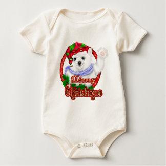 Frohe Weihnacht-Eisbär Baby Strampler