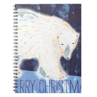 Frohe Weihnacht-Eisbär Spiral Notizblock