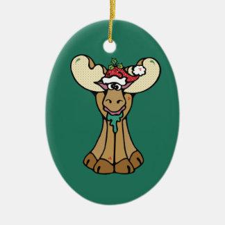 Frohe Weihnacht-Elch-Verzierung Keramik Ornament