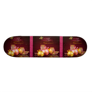 Frohe Weihnacht-elegante Glasverzierungen u. Band 19,1 Cm Old School Skateboard Deck