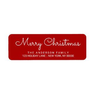 Frohe Weihnacht-elegante rote Hand beschrifteter