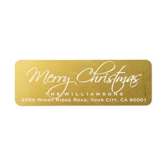 Frohe Weihnacht-elegantes Kalligraphie-Skript-Gold