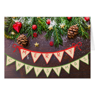 Frohe Weihnacht-Fahnen-Karte Karte
