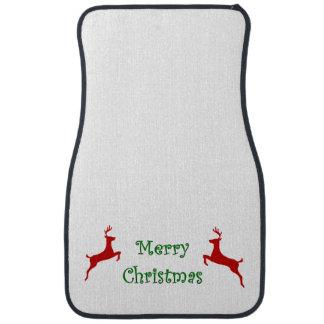 Frohe Weihnacht-Fahnen-Rot-Ren Autofußmatte