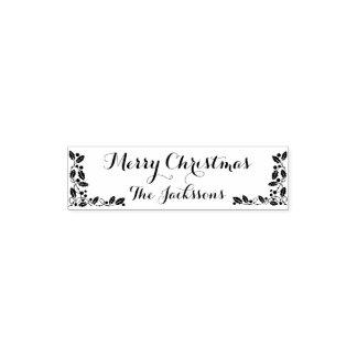 Frohe Weihnacht-Familienname und Weihnachtsdekor Permastempel