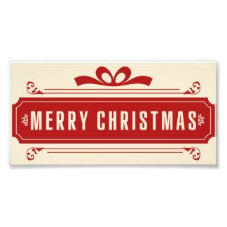 Frohe Weihnacht-Feiertag Fotodruck