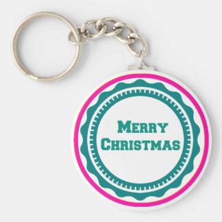 Frohe Weihnacht-Feiertag Keychains-Strumpf Stuffer Standard Runder Schlüsselanhänger
