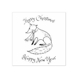 Frohe Weihnacht-FeiertagFox gemütlich Gummistempel