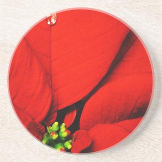 Frohe Weihnacht-Feiertags-Baum verziert celebratio Getränkeuntersetzer